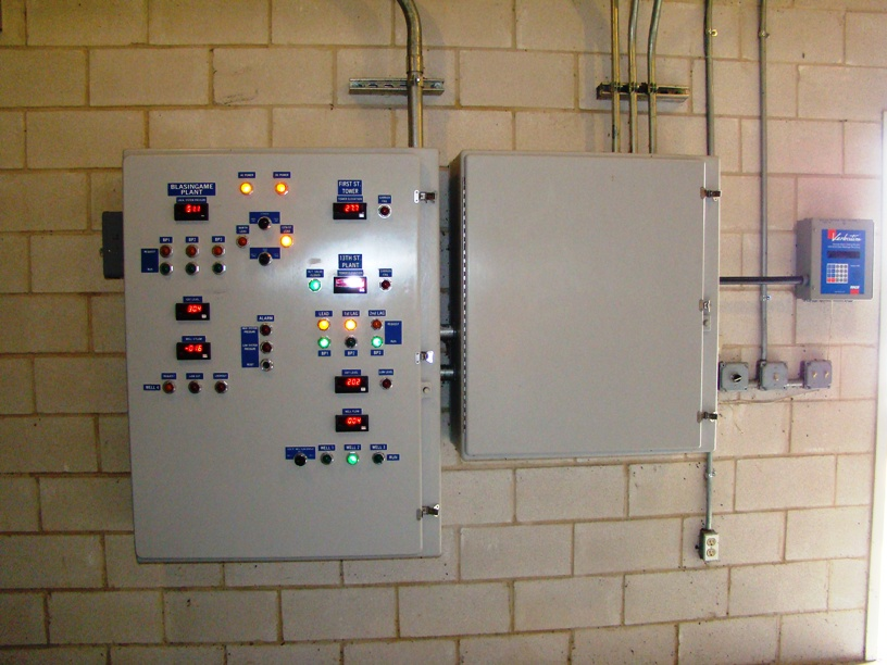 Control Panel Mounted to Wall, next to Fuse Box